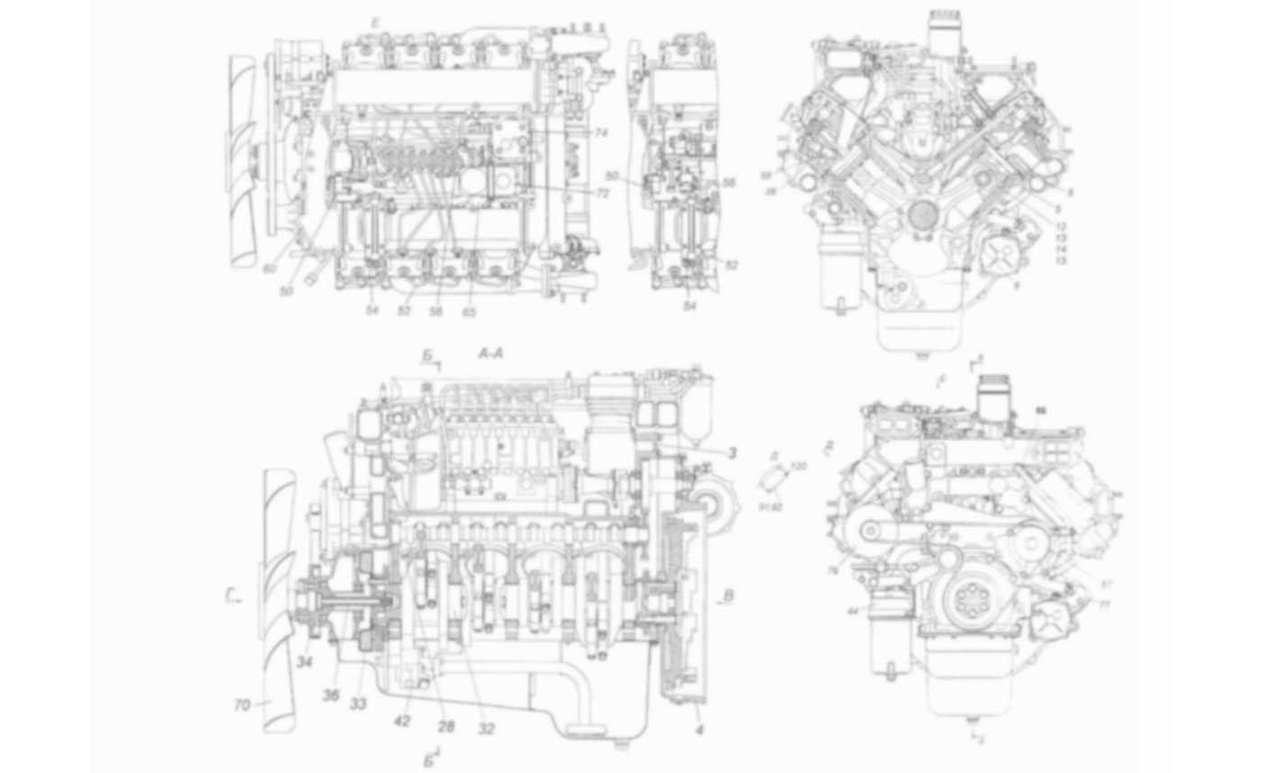 двигатель камаз 740 чертеж2